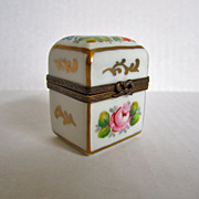 Limoges Paris France Vintage Porcelain Hand Painted Salt & Pepper Box