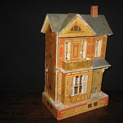 Antique German Gottschalk Blue Roof Dollhouse