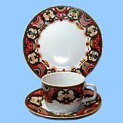 Imperial Imari Tea Trio, Georges Briard China