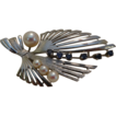 Gorgeous Silver, Cultured Pearl and Genuine Sapphire Brooch