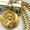 Antique Collar Necklace Art Nouveau Gold Filled Portrait Locket