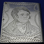 Vintage Match Safe or Vesta Case Masonic Robert Burns Clasped Hands Jain McAoidh