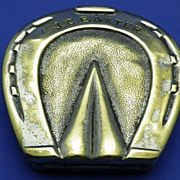 A Good Vintage Brass Snuff Box in the form of a Horseshoe
