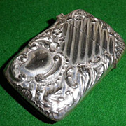 Vintage Art Nouveau Design Plated Match Safe or Vesta Case