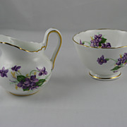 Spring Violets Individual Cream & Sugar by Royal Chelsea
