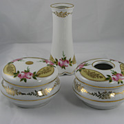 Leuchtenburg Germany Three Piece Dresser Set