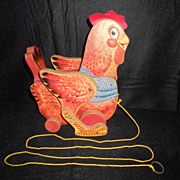 Vintage Collectable Cackling Hen Pull Toy Fisher-Price 1966-1968