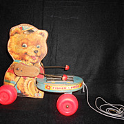 Vintage Collectable Toy Tiny Teddy Bear Zilo Fisher-Price 1966