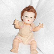 REDUCED Vintage Tiny Tears Doll by American Character Dolls 12&quot;  Caracul Wig
