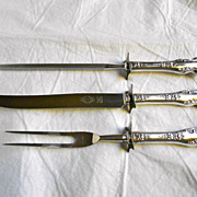 Vintage Sheffield Stainless Steel Cutlery Set Knife Fork Sharpener