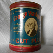 Vintage George Washington Tobacco Humidor Tin