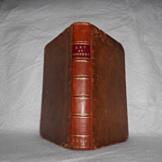 Antique 1774 Book Art of Cookery by Hannah Glasse Leather Cover