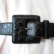Vintage Leather Belt Black