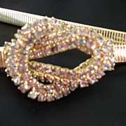 REDUCED Vintage Park Lane Belt Rhinestone Gold Tone