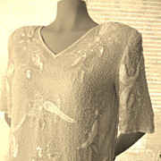 Vintage  Beaded Sequin  Top Valentine  Pink