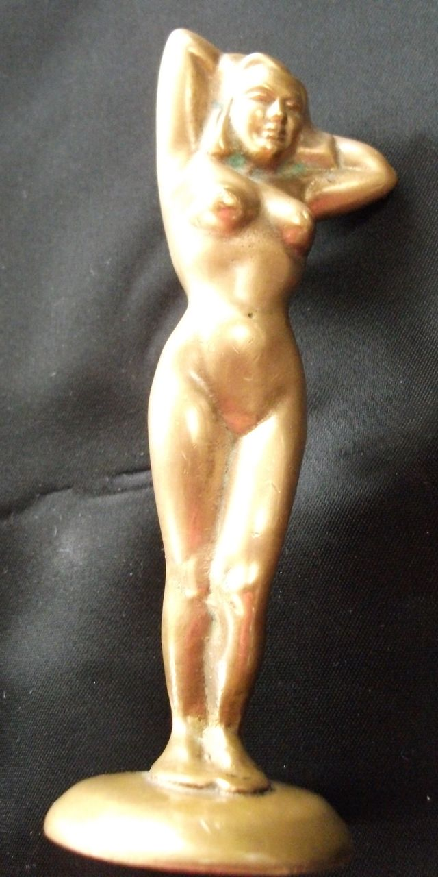 Vintage Brass Bottle Opener Nude  Shapely Female