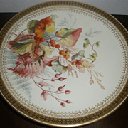 SOLD Set of 3 Antique Royal Worcester hand painted Plates for Bailey, Biddle & Banks