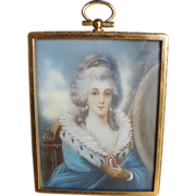 Victorian Woman wearing a Cameo-Miniature -signed Fuger