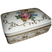 JLMENAU Germany Hand Numbered Dated Painted Floral Gold Gild Porcelain Trinket Box