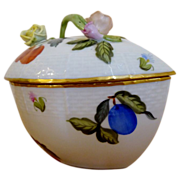HEREND hungry  BonBon covered dish Fruit & Flowers