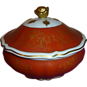 Covered Rose final Tureen/ Vegatable bowl Verbano Porcelain di Laveno-Italy