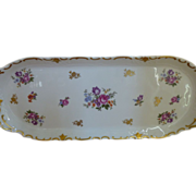 "Reichenbach Germany Rose 15"" Sandwich Tray"