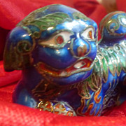 SOLD Vintage Cloisonne Enamel Foo Dog