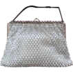 Vintage Rhinestone Hand Beaded Purse