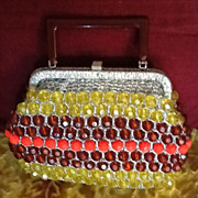 SALE Vintage Beaded Purse with Lucite Frame