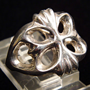 Sterling Silver Celtic Style Cast Ring size 6.25
