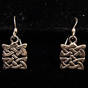 Sterling Silver Celtic Weave Shepard Hook Earrings