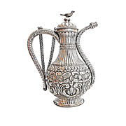 An Ottoman silver ewer 18th century