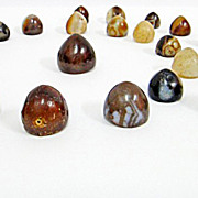 A set of ancient agate gaming chess piecs