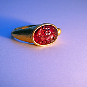 A Sassani Gold Ring Circa 3rd Century AD