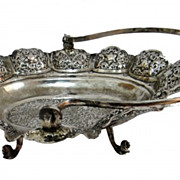 A Jewish Engraved silver Baskit 18th Century