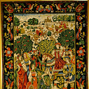 A French Embroidery Panel