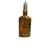 A Qajar Enamelled Wine Bottle Glass 18th Century Iran