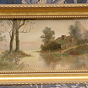 SALE PENDING Antique Victorian Watercolor Painting C. 1895 Signed by Tony H Harlow