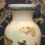 Lovely Hand Painted Chinese Asian Porcelain Vase With Phoenix