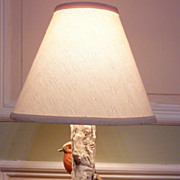 "Vintage 16"" Hummel Lamp by Goebel Two Red Breasted Robins Working Condition!"