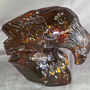Carved Amber Eagle Figure