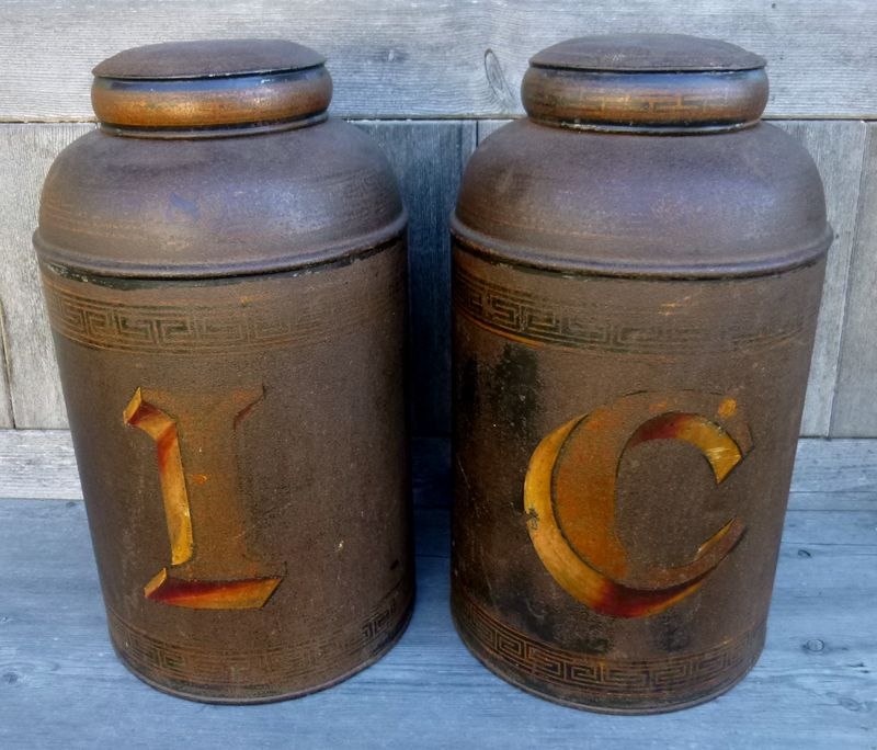 A Pair of English Tea Tins
