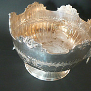 Monteith silverplated Punch Bowl.  Circa 1900.   Antique.