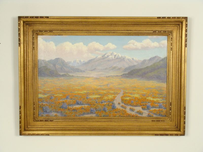 California landscape painting by C.W. Nicholson