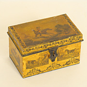 Yellow tole box