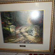 REDUCED Thomas Kinkade The Autumn Gate  LIBRARY EDITION