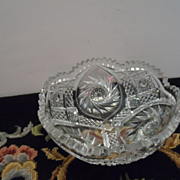 SALE Crystal Cut Bowl