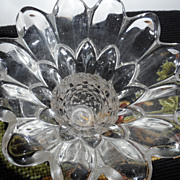 REDUCED Pineapple cut glass holder