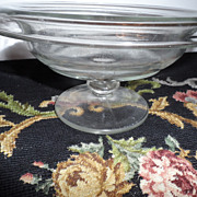 REDUCED Pedestal Console Glass Bowl