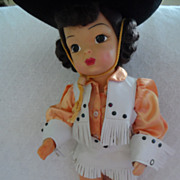 REDUCED Vintage Terri Lee Doll with Cowgirl Outfit and Original Box for Outfit